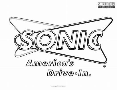 Coloring Pages Sonic Logos Super Fun