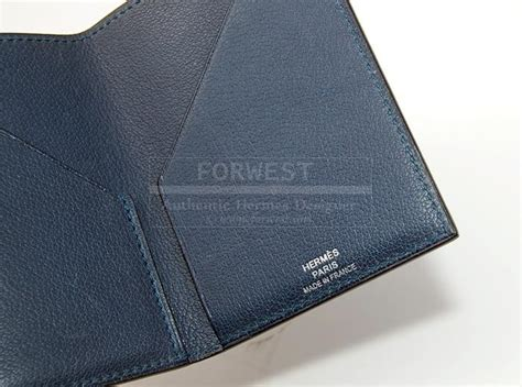 Authentic Hermes Blue Chevre Card Case-9.0000 Business Logo Pdf Photoshop Nameplates Trade Reference Letter Template Card Dimensions Staples On Clothing Japanese To Close Bank Account