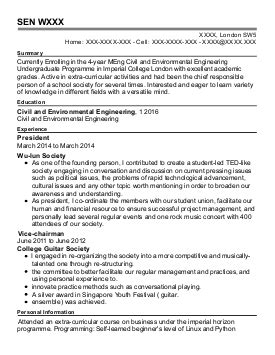 Undergraduate Chemical Engineering Resume by Marine Engineers Cv Exles Engineering Cv S Livecareer