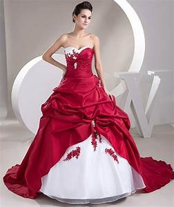 popular cheap red and white wedding dresses buy cheap With wedding dresses with red in them