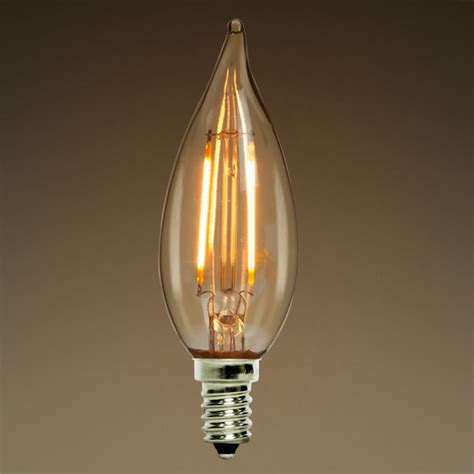 2w led chandelier bulb 2400k lifebulb 10106