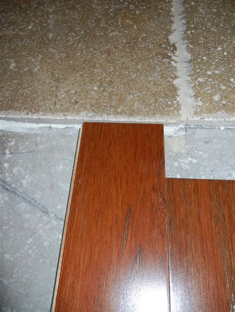 travertine transition transition travertine to engineered wood flooring