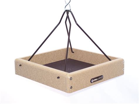 birds choice recycled 10 quot x 10 quot hanging tray bird feeder