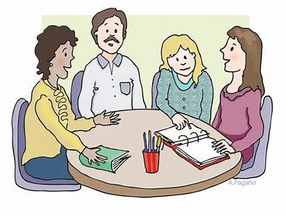 Clipart Teachers Clip Working Together Office Library