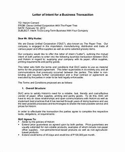 Letter Of Intent For Business Transactions   Docoments ...