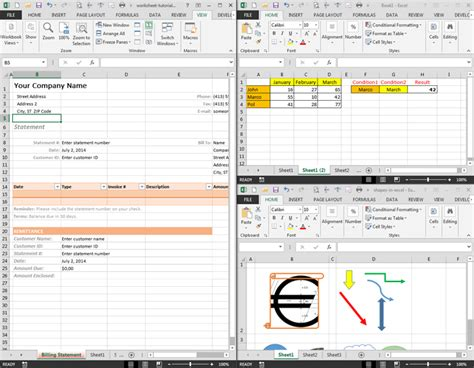 print freeze arrange excel worksheet