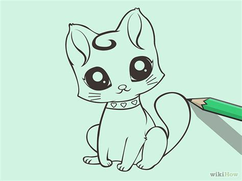 draw  cute cartoon cat art pinterest drawings
