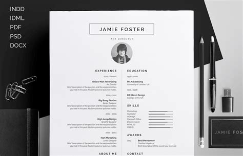 Resume Designs In Word by 65 Eye Catching Cv Templates For Ms Word Free To