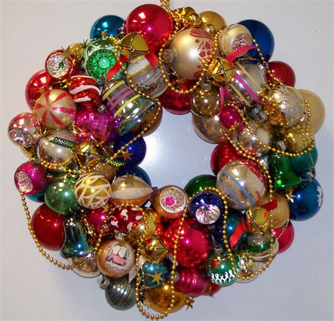 vintage christmas ornament wreath flickr photo sharing