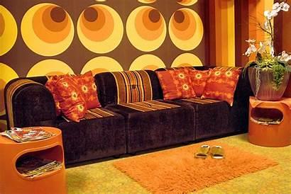 70s Orange Retro Brown Yellow Wall Circle