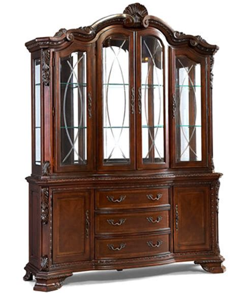 Macys Bradford China Cabinet by Royal Manor China Cabinet Furniture Macy S