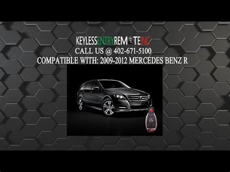 One type of key fob is the chrome key. How To Change A Mercedes Benz R350 Key Fob Battery 2007 -2012 - Key Fob Programming Instructions