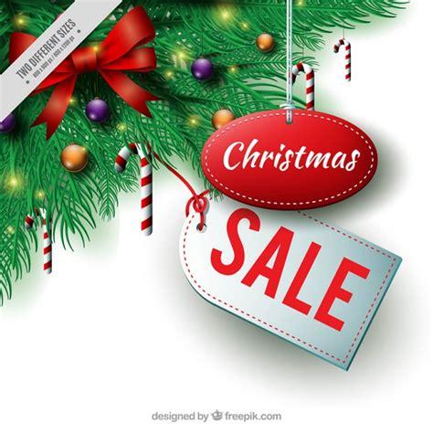 christmas sale background  fir decoration vector
