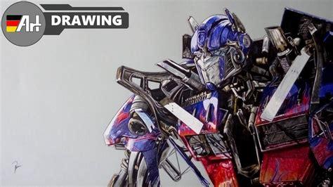draw optimus prime transformers speed drawing