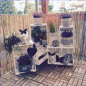 Weinkisten Dekorieren Draußen : balkon dekoration herbst ~ Yasmunasinghe.com Haus und Dekorationen