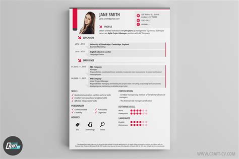 Creative Resume Template Maker by Cv Maker Professional Cv Exles Cv Builder Craftcv