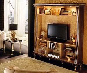 Exklusive Tv Möbel : exklusive tv wohnwand rossini kristalle golddekor klassische stilm bel italien ebay ~ Sanjose-hotels-ca.com Haus und Dekorationen