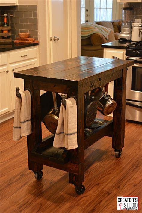build  kitchen island cart rust oleum creators studio