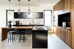 design une cuisine moderne a montreal maison et demeure With deco cuisine avec chaise contemporaine design