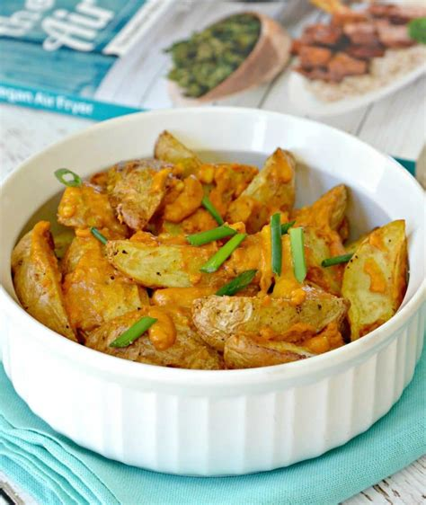 air fryer vegan recipes potato cheesy peta food wedges