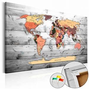Carte Du Monde En Liège : tableau liege image sur toile xxl art carte du monde k b 0009 p b ebay ~ Teatrodelosmanantiales.com Idées de Décoration