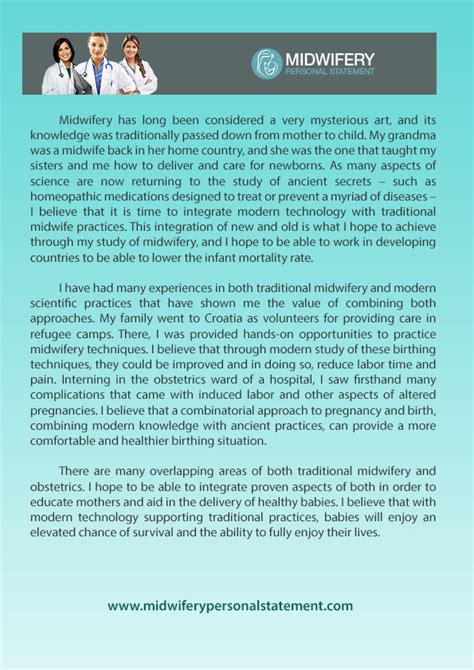 Exle Of Personal Statement For Nursing by Midwifery Personal Statement Exles