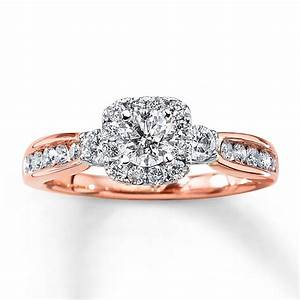 Kay diamond engagement ring 1 ct tw round cut 14k gold for Kay jewelers wedding ring