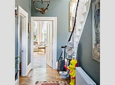Classic grey hallway with quirky accents housetohomecouk