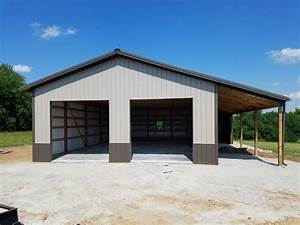 metal lean to carport plans metal garage with lean to With 40x56 pole barn