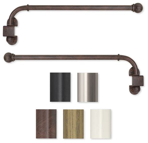 A Swing Arm Curtain Rod by Swing Arm 14 To 24 Inch Adjustable Curtain Rod