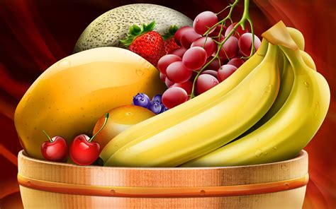 Animated Fruit Wallpaper - a basket of fruit wallpapers high quality free