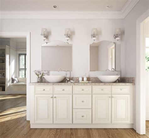 cambridge antique white glaze ready  assemble bathroom