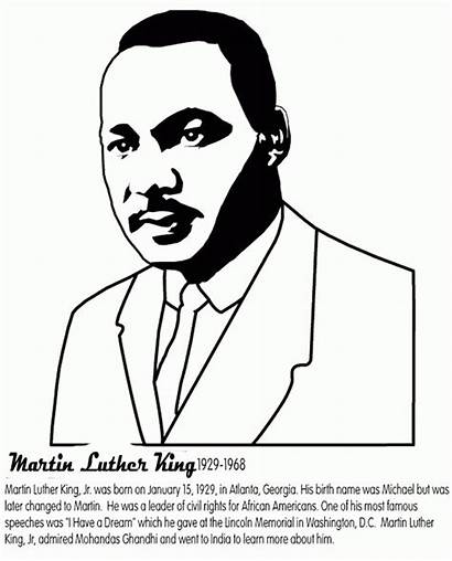 Luther Martin King Jr Coloring Pages Mlk