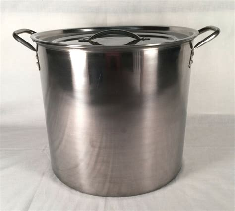 pot beer stainless steel brew kettle gallon boiling making homebrewing