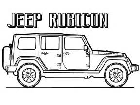 Jeep Rubicon Coloring Pages To Print Realistic Coloring Pages