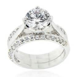 cz wedding ring sets cubic zirconia engagement ring sets