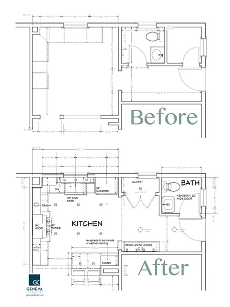 Kitchen Floor Plans And After by Kitchen Rennovation Archives Geneva Cabinet Company Llc