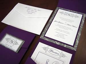 Black white silver purple weddings purple and silver for White and silver wedding invitations pinterest