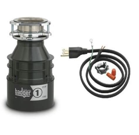 insinkerator badger1wc power cord included badger 1 3 hp