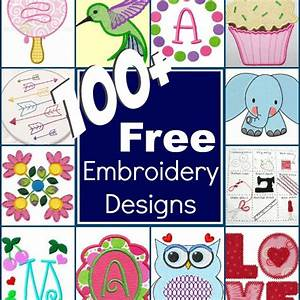 100+ Free Embroidery Designs Round Up - The Sewing Loft