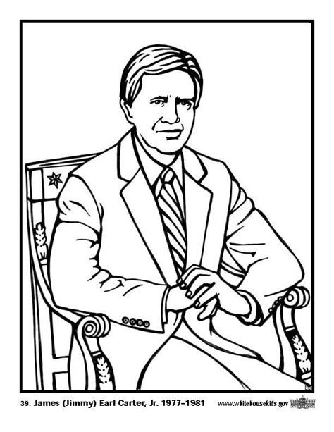Jimmy Carter Coloring Pages Learny Kids