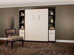 Furniture. Modern Twin Size Wood Horizontal Murphy Bed ...