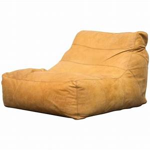 De sede style leather bean bag chair at 1stdibs for Bean bag type furniture