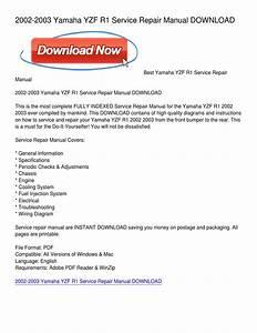 2002-2003 Yamaha Yzf R1 Service Repair Manual Download By Richard Hawkins