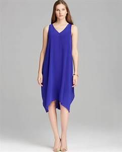 Asos Size Chart Dresses Eileen Fisher Asymmetric Silk Dress In Blue Blueviolet