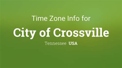 time zone clock city crossville tennessee usa