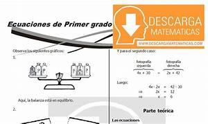 DESCARGAR ECUACIONES DE PRIMER GRADO ÁLGEBRA SEGUNDO DE SECUNDARIA Descarga Matematicas