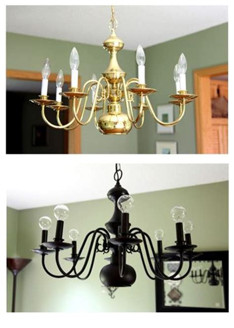 25 best ideas about spray painted chandelier on