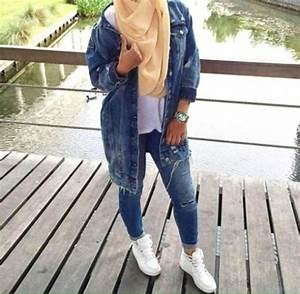 Style Hijab Jaket Jeans