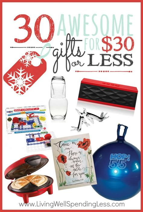 30 awesome gifts under 30 living well spending less 174